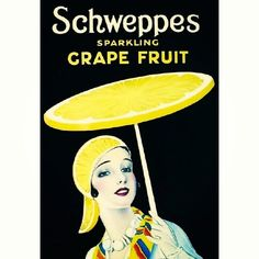 Sending you a little piece of sunshine! Have a nice sunny day! 🌞 1920s advertisement for Schweppes. Love the grapefruit parasol! 😊…