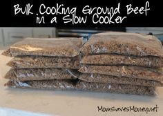 Browning ground beef in a slow cooker saves time and helps end the dinner hassle!