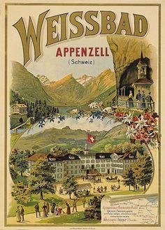 Weissbad. Appenzell. Schweiz. 1900.