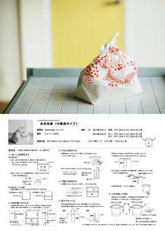 お弁当袋(巾着袋タイプ)の型紙と作り方