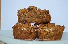 Paleo Morning Glory Muffins- Grain Free/ Gluten Free/ Dairy Free/ Refined Sugar Free/ Vegan/ Egg Free