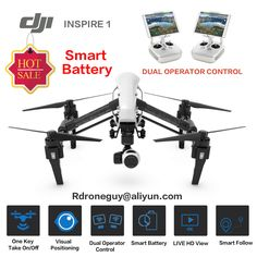 DJI Inspire 1 Quadcopter with Camera and Gimbal Camera Integration - Camera Included, Type - Ready to Fly Drone, Connectivity - Remote Control, Camera Features - HD Video Recording, Maximum Flight Time - UPC - 190021001930 Video Hd 4k, 4k Hd, Android Video, Buy Drone, Drone For Sale, Indoor Flying, Phantom 4, Drone Technology, Drone Quadcopter