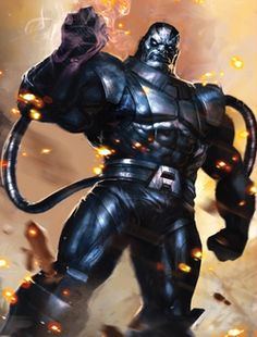 Apocalypse - Marvel's oldest known mutant born in the times of Ancient Egypt. His motto is 'survival of the fittest' in which he and his minions thrives on as he plots world domination for the mutant species: Homo superior. My favorite Marvel villain.