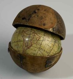 Pocket globe from 1793.