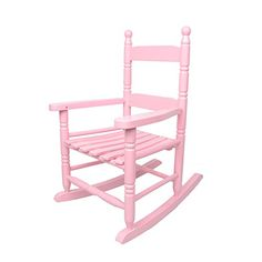 Coismo Solid Wood Rocking Chair Porch Rocker For Kid, Pink