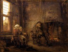 Товия и его жена (1659) (40.3 х 54). Rembrandt Harmensz van Rijn (1606-1669)