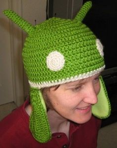 Android  hat free #crochet pattern