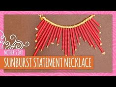 How To Make A Statement Necklace - DIY Jewelry making - YouTube