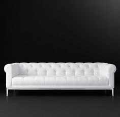 "8' Italia Chesterfield Sofa $7395USD 8"" vintage velvet"