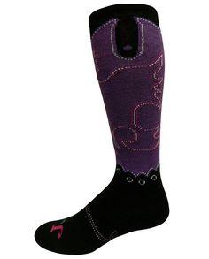 Justin Women's Purple Over-the-Calf Socks - Sleepwear and Socks - Women's