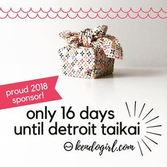 The countdown to #detroittaikai is on! Are you ready for some #beautifulkendo ?! 🌸😍✨