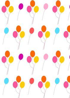 FREE printable balloon pattern paper   #happybirthday