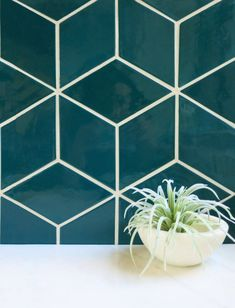 Channel the soothing waters of Lake Superior with our teal bathroom tiles. These rhomboid ceramic tiles are handmade for a unique, one-of-a-kind finish. Teal Bathroom Decor, Rustic Bathroom Vanities, Rustic Bathrooms, Bathroom Colors, Bathroom Styling, Bathroom Sets, Teal Bathrooms, Loft Bathroom, Bathroom Inspo