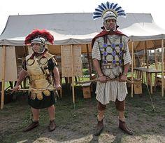 Roman centurio. Legio XXI Rapax - historical reenactment of Roman legions. Rekonstrukcja historyczna rzymskich legionów