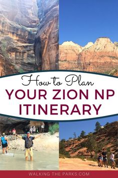 Working on your Zion Itinerary? Here's tips to creating the best list of Things To Do in Zion National Park for an amazing trip. Check it out! National Park Tours, National Parks, Utah Vacation, Vacation Rentals, Vacation Ideas, Hiking The Narrows, Hiking Trails, Destinations, Us Road Trip