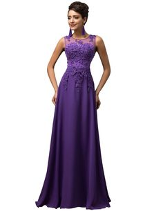 AmazonSmile: Grace Karin® Women V-Back Beads Long Gown Evening Prom Dress CL7555: Clothing