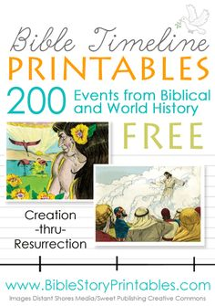 Free Bible Timeline Printables at Bible Story Printables