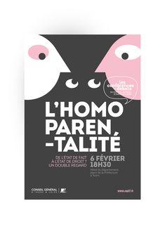 Affiche et illustration sur le thème de l'homoparentalité