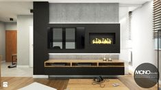 Salon w minimalistycznym i ciepłym charakterze - zdjęcie od MONOstudio - Salon - Styl Minimalistyczny - MONOstudio