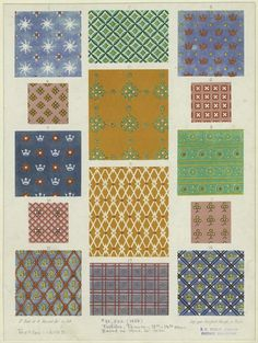 13th - 14th century french fabrics.  so cheery and bright!