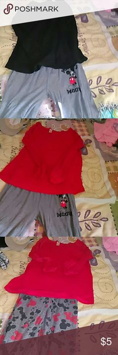 Really cute Mickey Joggers Reversible Mickey Mouse joggers, can wear with three different colors of shirts. Comfortable, and never worn. NWOT. Ready for fall. You can wear them for workouts or just a lounge day at home. Disney Pants Track Pants & Joggers