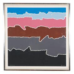 """""""Shorelines"""" Silkscreen By Arthur Secunda"""