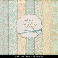 Freebies Kit of Background - Sun Through the Fog