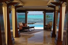 My dream reading room when I have a luxury beach home in the Camen Islands. Sigh.