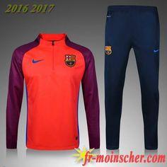 df359a1ed6f Acheter Survetements Foot FC Barcelone Orange Enfant Pantalon nouvelle  saison 2016 2017 18 Thailande un Site fiable thaifoot-fr