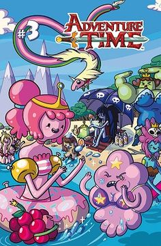Tags: Adventure Time, Princess Bubblegum, Marceline, LSP, Slime Princess, Lady Rainicorn, Beach, Swimsuit, Cover
