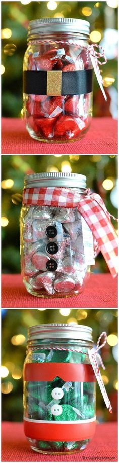 Mason Jar Candy jars for Christmas