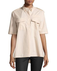 Equipment Major Short-Sleeve Blouse, Nude New offer @@@ Price :$158 Price Sale $79