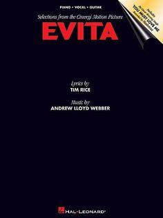 Andrew Lloyd Webber: Evita - Piano, Vocal & Guitar. £9.95