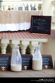 A coffee bar is brilliant for a wedding. Coffee Bar Wedding, Brunch Wedding, Wedding Reception, Brunch Party, Wedding Sweets, Wedding Ceremonies, Wedding Catering, Wedding Favours, Small Intimate Wedding
