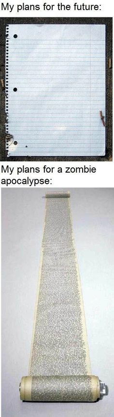 I'm a bit more prepared for my future, but still. . .everyone has to have a plan for the zombie apocalypse!