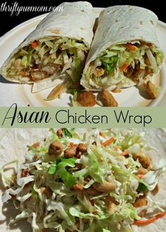 Chicken Wraps Recipe (Use Frozen Chicken Strips) These delicious Asian Chicken Wrap is a fun and easy dinner idea.These delicious Asian Chicken Wrap is a fun and easy dinner idea. Asian Chicken Wraps, Asian Chicken Salads, Chicken Strips, Teriyaki Chicken, Chicken Wrap Recipes Easy, Grilled Chicken Wraps, Frozen Chicken Recipes, Chicken Tacos, Rotisserie Chicken