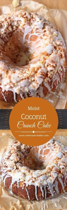 Moist Coconut Crunch Cake -- www.mind-over-batter.com