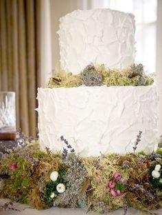 A wedding cake for an English country garden style wedding...
