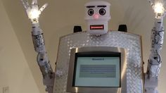 The BlessU-2 robot provides blessings in five languages and recites biblical verses.