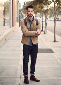Edward Honaker é americano, tem 19 anos e é um dos blogueiros de moda masculina...