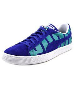 PUMA Puma Suede Classic + Big Logo Men Round Toe Suede Blue Sneakers'. #