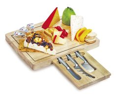 Cheese Board with 3 Knives