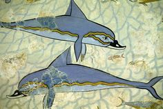 Dolphin fresco from the Palace ruins at Knossos. Crete, Greece!  www.cretetravel.com