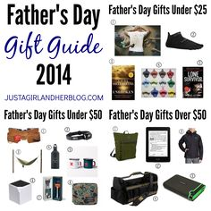 Father's Day Gift Guide with so many awesome ideas!   JustAGirlAndHerBlog.com