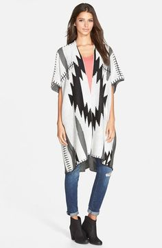 Woven Heart Oversize Cardigan (Juniors) (Online Only) available at #Nordstrom