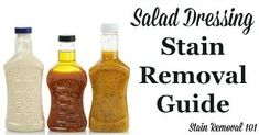 Salad Dressing Stain Removal Guide For Creamy & Vinaigrette Varieties Vinaigrette Dressing, Salad Dressing, House Cleaning Tips, Cleaning Hacks, Salted Or Unsalted Butter, Reading Comprehension Skills, Brush My Teeth, Helping Other People, Low Self Esteem