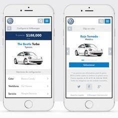 Volkswagen - Car configurator Website on Behance