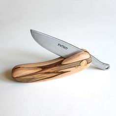 Workerman KUT Maple Ambrosia folding knife, $45.00, carbon steel Svörd blade made in New Zealand