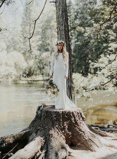 Tendance Robe du mariée 2017/2018  Long sleev lace Houghton wedding dress