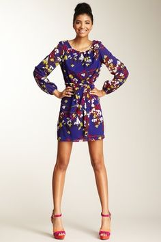 Cassis Long Sleeve Dress - Love the cut and the pattern!